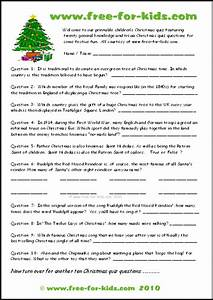 Free Christmas Quiz Questions For Children
