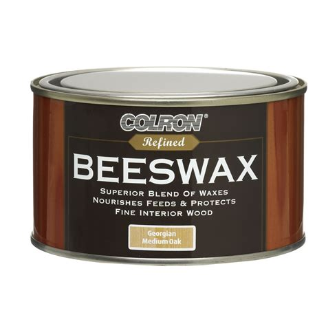 oak wood cleaner colron refined beeswax medium oak 400g at wilko com