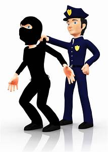 Cartoon Police Officer Arresting Clipart - Free Clipart