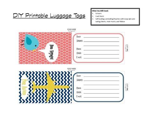 Diy Printable Luggage Tags Luggage Tag Template Peerpex
