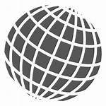 Globe Grid Icon Globo Symbol Transparent Icono