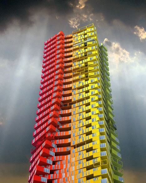 shipping container skyscrapers envisioned  replace slum