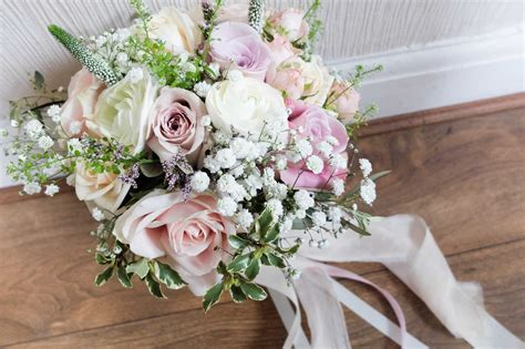 Dusky Pink Wedding Flowers At Inglewood Manor
