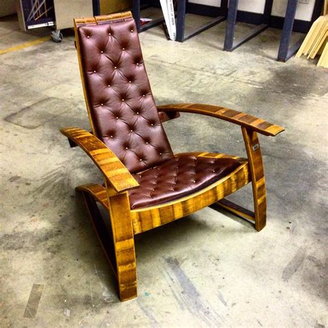 wine barrel chair with leather hungarian workshop