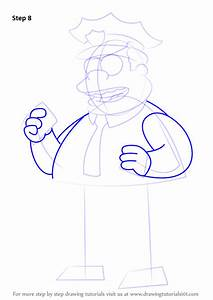 Learn How To Draw Chief Clancy Wiggum From The Simpsons