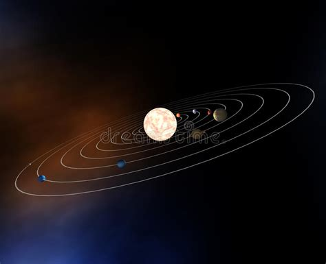 Diagram Our Solar System With Planets Royalty Free