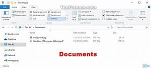 change folder template in windows 10 windows 10 tutorials With my documents folder windows 10