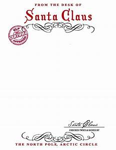Santa letterhead word template svoboda2com for Santa claus letter stationary