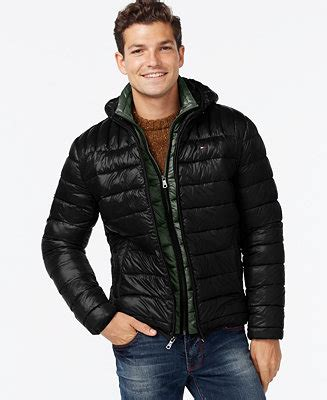 tommy hilfiger hooded packable jacket coats jackets