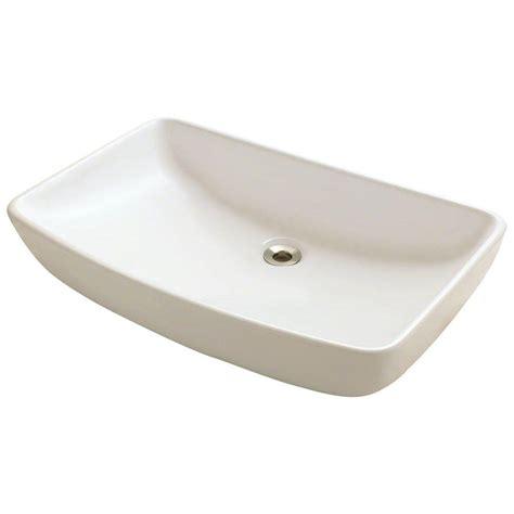 home depot vessel sinks polaris sinks porcelain vessel sink in bisque p053v b