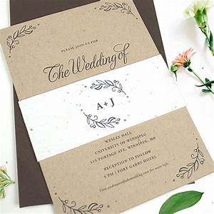 seeds of love kraft paper wedding invitations with seed With wedding invitations you can plant