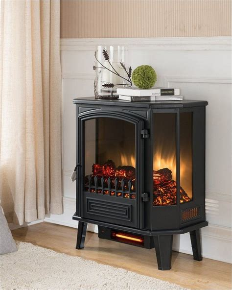 free standing electric fireplace home interior