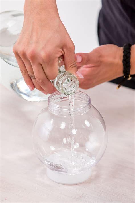 homemade snow globe   holidays