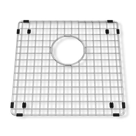sink grids for stainless steel sinks american standard prevoir 14 1 4 in square kitchen sink