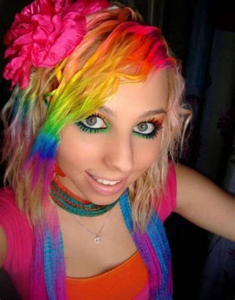 Pretty Girls With Rainbow Colored Hair Breaks 24