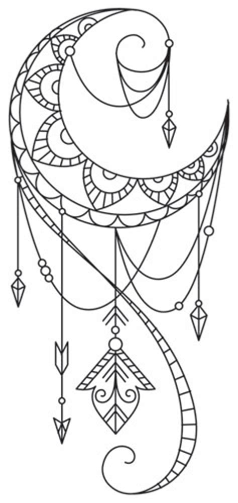 talisman draping crescent urban threads unique  awesome embroidery designs