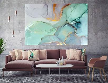 Canvas Marble Artwork Ready Prints Teal