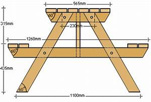 BuildEazy projects - 4 seater picnic table metric version