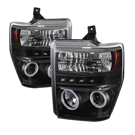 spyder black ccfl halo projector led headlights