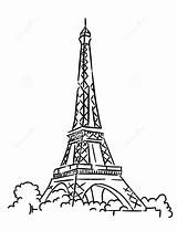 Eiffel Tower Paris Coloring Pages sketch template