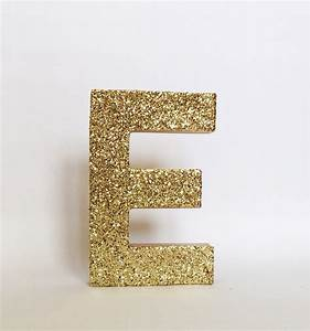 gold silver glitter stand up letter initial monogram With silver standing letters