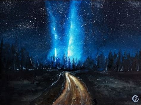Watercolor Milky Way Night Sky Painting Demonstration
