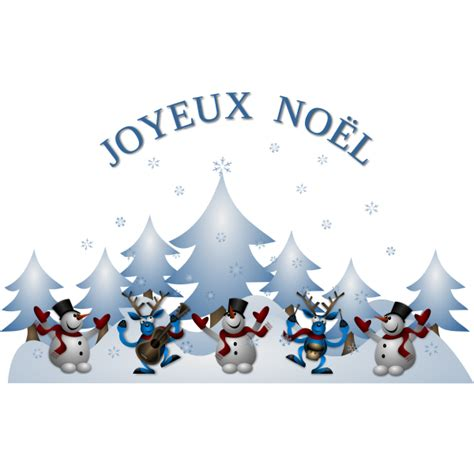Vector illustration of Merry Christmas card in French ...
