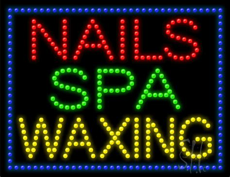 salon edge led l nails spa waxing led sign salon led signs every thing neon
