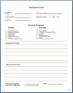 job exit interview form With free employee exit interview template
