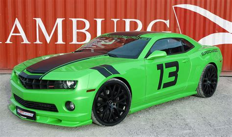 geiger cars unleashes green goblin chevrolet camaro super