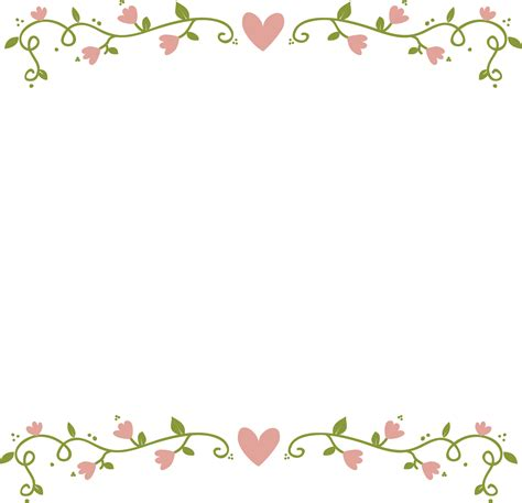 ftestickers frame borders vine hearts