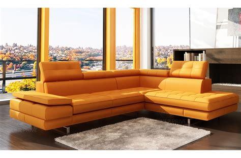 canapé cuir orange canap mobilier privé