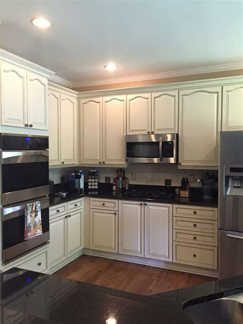 sherwin williams antique white cabinets  kb walks atlanta kitchen remodel pinterest