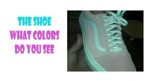 which color are you the shoe what color is it