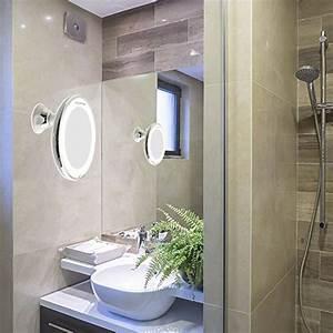 Kosmetikspiegel Mit Saugnapf : auxent kosmetikspiegel led beleuchtet mit 10x vergr erung und saugnapf 360 schwenkbar make ~ Sanjose-hotels-ca.com Haus und Dekorationen