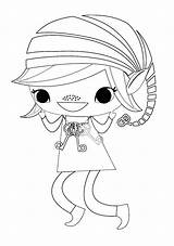 Brownie Elf Scout Coloring Sheet Scouts Daisy Printable Brownies Sheets Quest Activities Guides Baking sketch template