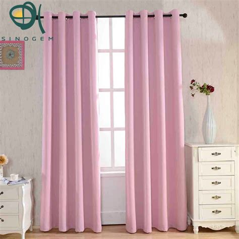 pink dyed blackout curtains for the bedroom solid color
