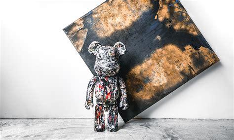 medicom toy debuts jackson pollock beatrbrick  collectible