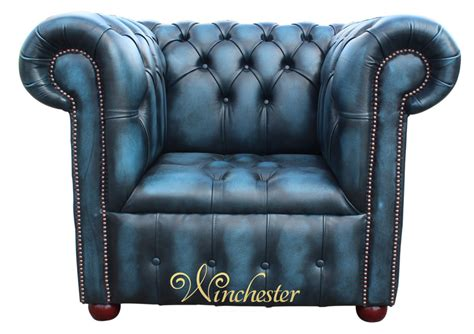 Chesterfield Buttoned Seat Low Back Club Armchair Antique