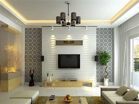 Wallpaper Design For Elegant Living Room - 4 Home Ideas
