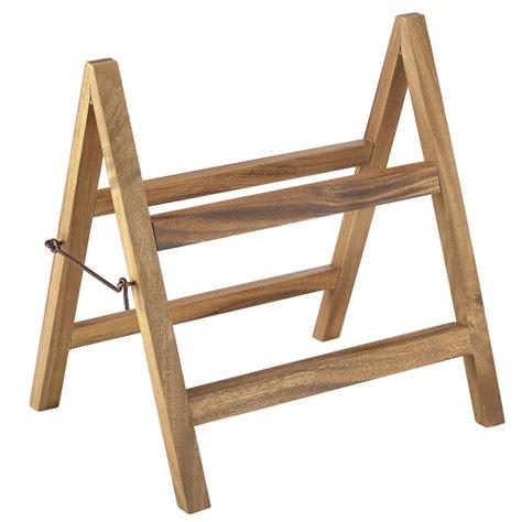 acacia wood folding display stand cm  cm  cm