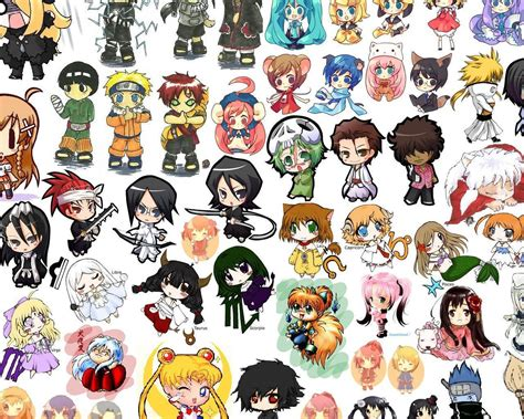 Anime Character Wallpaper - anime chibi wallpapers wallpaper cave