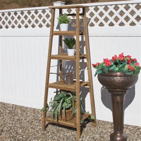 ideas  outdoor wooden plant stands