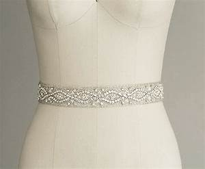 catherine crystal bridal belt sash rhinestone wedding With wedding dress belts crystal