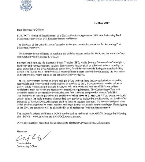 Cover Letter For Consular Assistant by Signed Cover Letter U S Embassy In