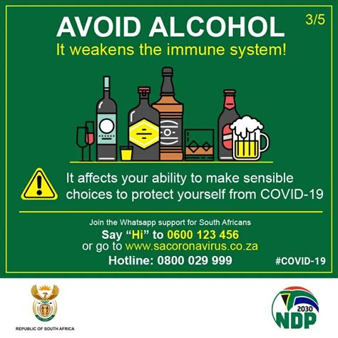 Alcohol guidelines during the COVID 19 pandemic SA