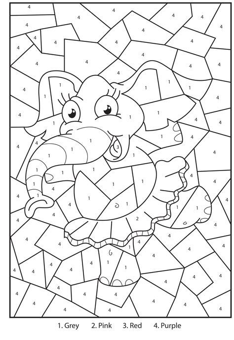 hard color  number worksheets top  magic printable
