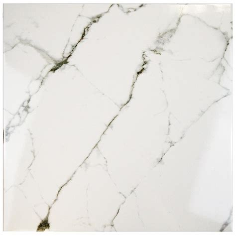 floors tile glass merola tile classic calacatta 18 in x 18 in ceramic Classique