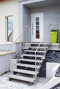 Escalier Extrieur Bois Mtal Inox Art Escaliers
