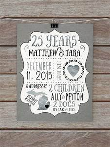 25 year anniversary gift silver wedding anniversary With 25th wedding anniversary gifts for parents